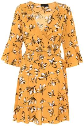 Quiz Mustard Floral Dress