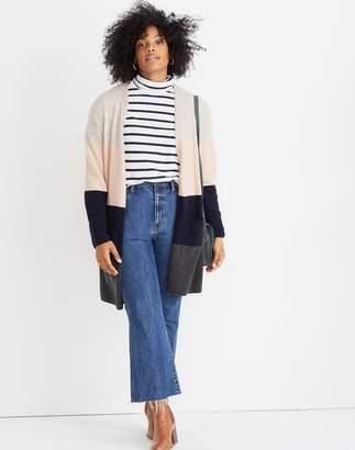 Madewell Kent Striped Cardigan Sweater in Coziest Yarn