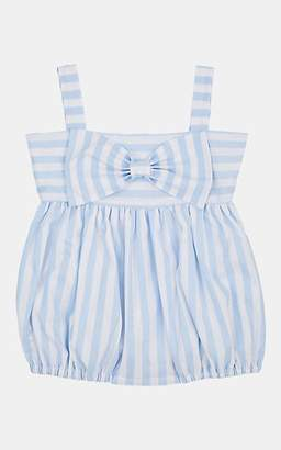 Isabel Garreton Infants' Striped Cotton Bubble Dress - Blue