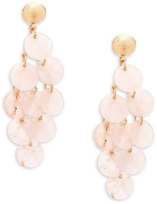 Jardin Women's Disc Chandelier Earrings