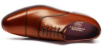 Charles Tyrwhitt Brown Heathcote Calf Leather Toe Cap Oxford Shoes Size 11.5