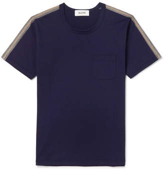 Aloye Slim-Fit Stripe-Trimmed Cotton-Jersey T-Shirt