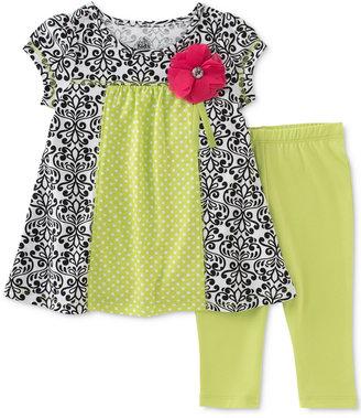 Kids Headquarters 2-Pc. Toile Tunic & Capri Leggings Set, Toddler & Little Girls (2T-6X) $38 thestylecure.com