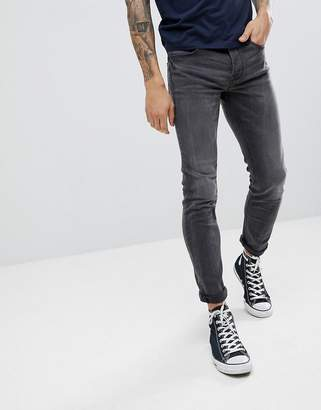 ONLY & SONS Skinny Fit Jeans In Gray Denim
