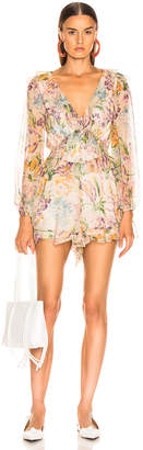 Zimmermann Ninety Six Flutter Playsuit in Tulip Floral | FWRD