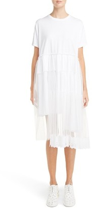 Women's Simone Rocha Tiered T-Shirt Dress $440 thestylecure.com