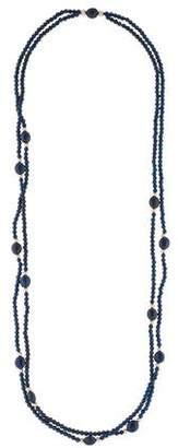 14K Lapis Beaded Double Strand Necklace