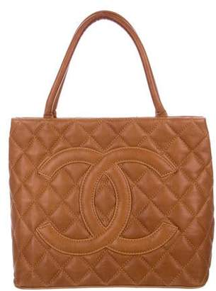 Chanel Quilted Leather Medallion Tote