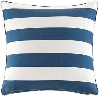 "Jla Home Madison Park Percee 20"" x 20"" Printed Cabana Stripe 3M Scotchgard Outdoor Square Pillow"