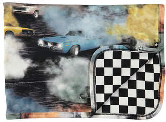 Molo Niles Cars Smoke & Checkered Blanket