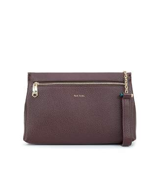 607fea69e113 Paul Smith Leather Chain Toggle Crossbody Bag Colour  PLUM