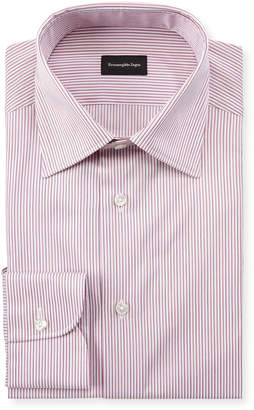Ermenegildo Zegna Men's Narrow Stripe Dress Shirt
