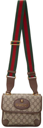 Gucci Beige GG Supreme Neo Vintage Foldover Bag
