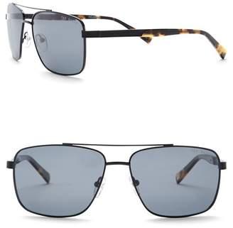 Ted Baker 58mm Full Rim Navigator Sunglasses
