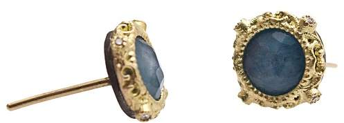 ArmentaArmenta 18K Yellow Gold and Sterling Silver New World Blue Quartz Triplet and Diamond Earrings - 100% Exclusive