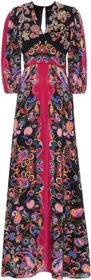 Etro Sequined paisley silk dress