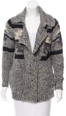 Isabel Marant Rib Knit Patterned Cardigan