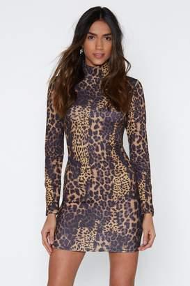Nasty Gal Love Zoo Too Animal Print Dress