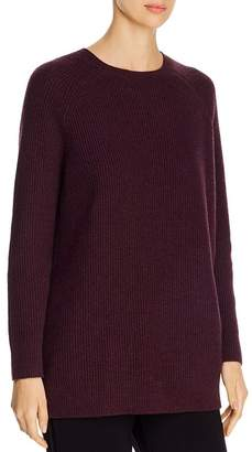Eileen Fisher Cashmere-Blend Waffle-Knit Sweater