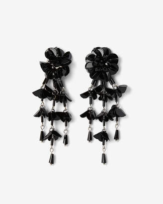 Express Flower Fringe Drop Earrings