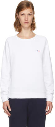 MAISON KITSUNÉ White Tricolor Fox Patch Sweatshirt