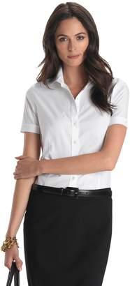 Brooks Brothers Petite Non-Iron Tailored-Fit Short-Sleeve Dress Shirt
