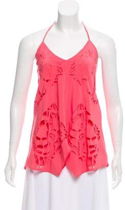 Madison Marcus Laser Cut Halter Top