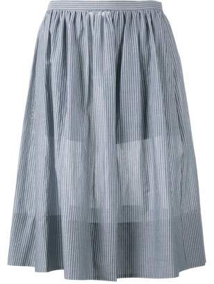 Vince striped midi skirt