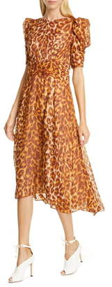 Kate Spade Panthera Clip Dot Silk Dress