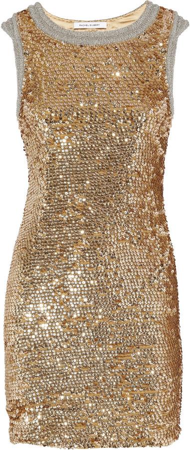 Rachel Gilbert Willamina sequined silk dress