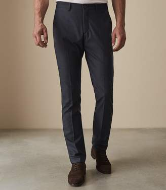 Reiss Our last order date for Christmas has now passed NANO SLIM FIT CHECKED TROUSERS Soft Blue