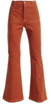 See by Chloe Patch Pocket Flared Jeans