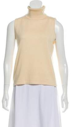 TSE Silk-Accented Turtleneck Sweater