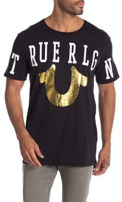 True Religion Across Crew Neck Tee