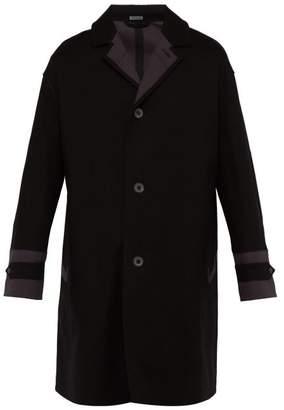 Lanvin Cotton Twill Overcoat - Mens - Black Grey