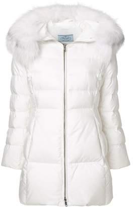 Prada trim padded jacket