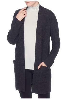 Magaschoni Merino Wool Open Front Coat