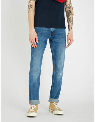 Tommy Hilfiger Denton ripped slim-fit straight jeans