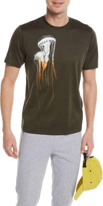Ermenegildo Zegna Jellyfish-Graphic Cotton T-Shirt