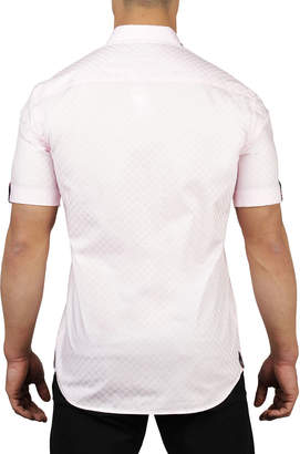 Pan Am Maceoo Shaped-Fit Mini Panam Square Sport Shirt, Light Pink