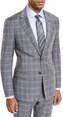 Giorgio Armani Plaid Wool Two-Piece Suit