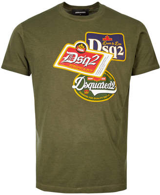 DSQUARED2 T-Shirt Logo - Green