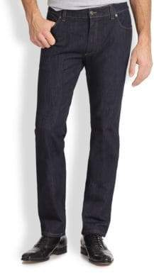 Salvatore Ferragamo Five-Pocket Straight-Leg Jeans