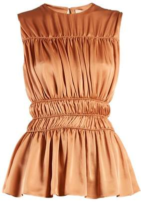 Roksanda Uma gathered-detail silk sleeveless top