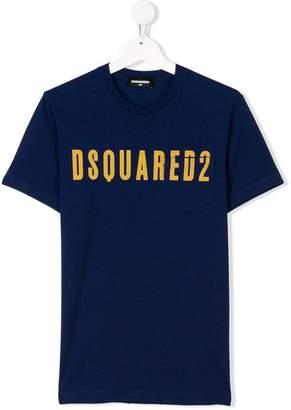 DSQUARED2 logo print chest pocket tee
