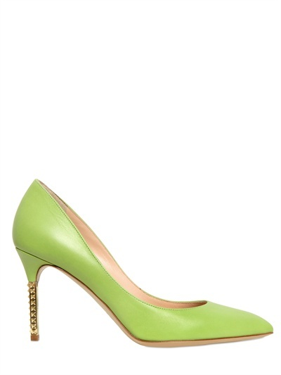 Valentino 85mm Pointy Calfskin Pumps