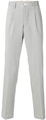 East Harbour Surplus striped high waisted trousers