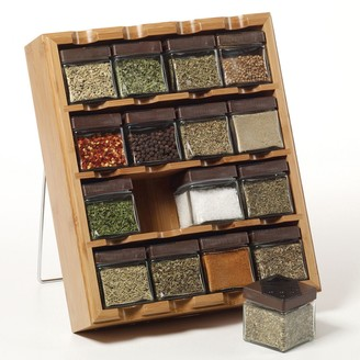 Kamenstein Bamboo Inspirations 16-Cube Spice Rack