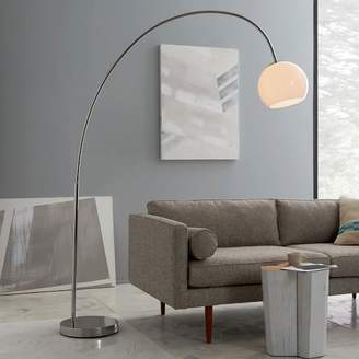 west elm Overarching Acrylic Shade Floor Lamp - Polished Nickel/White