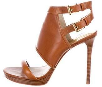 MICHAEL Michael Kors Leather Ankle-Strap Sandals